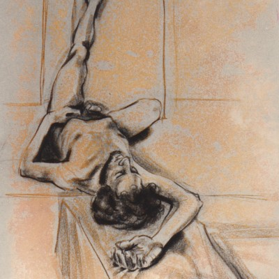 Ragin's Live Nudes, Columbia University, 24x18_ (61x46cm) - 20 minute pose, 4 cropped large